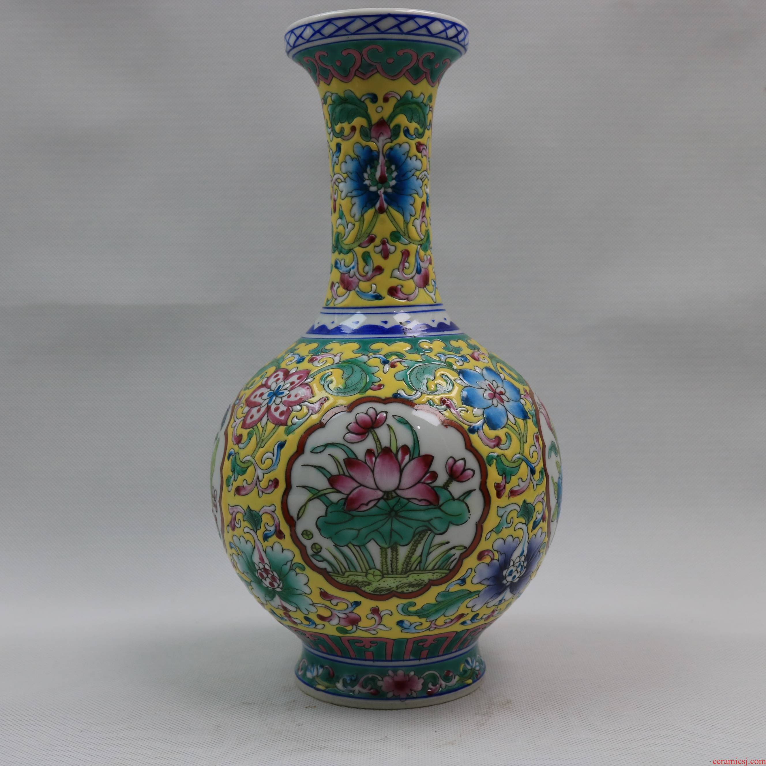 Archaize of jingdezhen porcelain lotus like nuances in the qing qianlong com.lowagie.text.paragraph vase retro household adornment Archaize handicraft furnishing articles