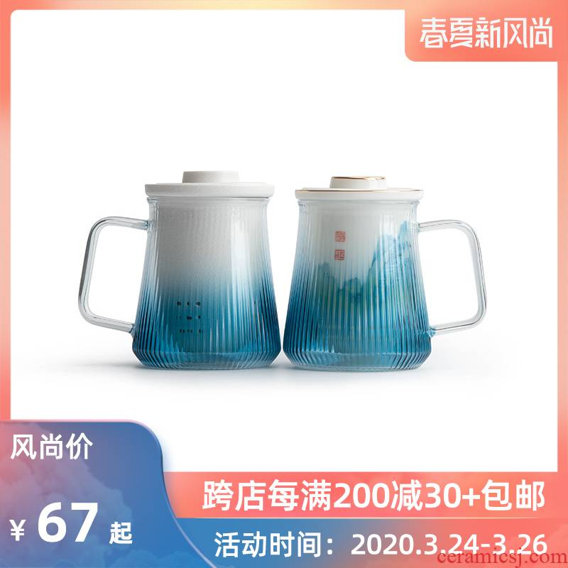 Mr Nan shan gradient heat - resistant glass cup of household ceramic tea cup tea mugs office separation