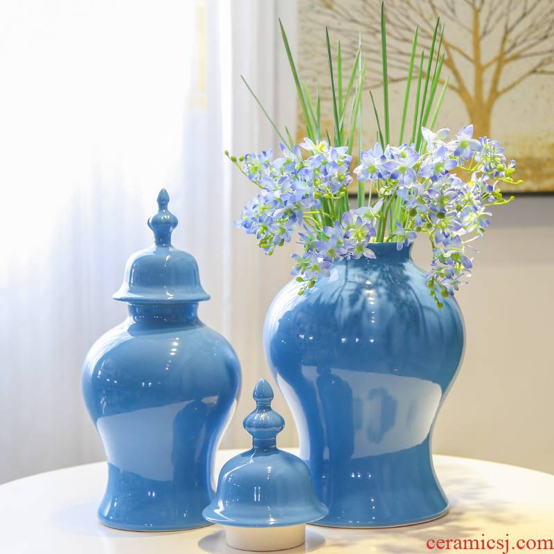 The New Chinese vase jingdezhen ceramic table sitting room furnishing articles device home decoration soft outfit decoration simulation flower arranging flowers