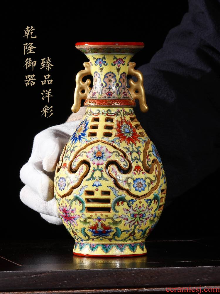 Jia lage jingdezhen ceramic vase Chinese penjing YangShiQi ocean color melvin wong on this rotary bottle