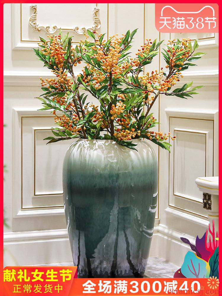 Jingdezhen Nordic sitting room of large vases, ceramic flower arranging, contracted and I creative dried flower adornment furnishing articles