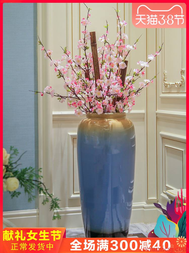 Jingdezhen ceramic vase of large sitting room villa flower arranging dried flower adornment furnishing articles I and contracted flower arranging flowers