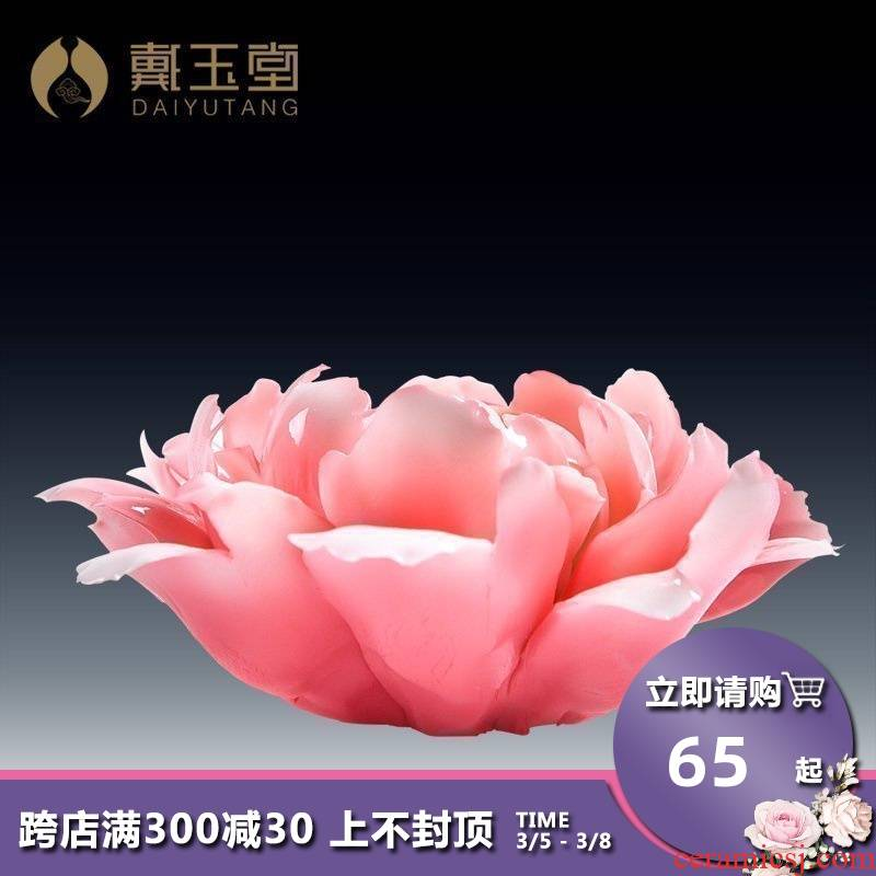 Yutang dai home Buddhism for Buddha lotus furnishing articles sweets temple consecrate Buddha with supplies checking ceramic peony