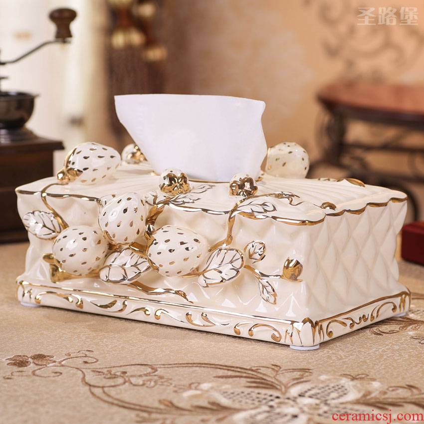SAN road fort European ceramic tissue box home sitting room tea table cartons decorative furnishing articles creative wedding gift