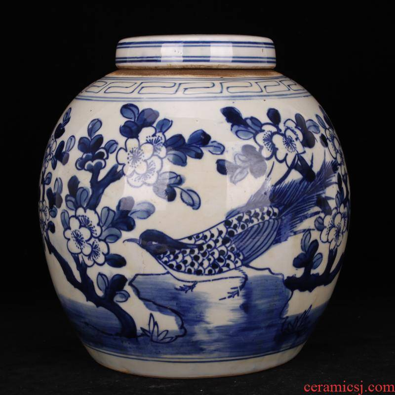 Pure checking porcelain of jingdezhen folk charactizing a fine spring day old POTS do old antique reproduction antique collection furnishing articles