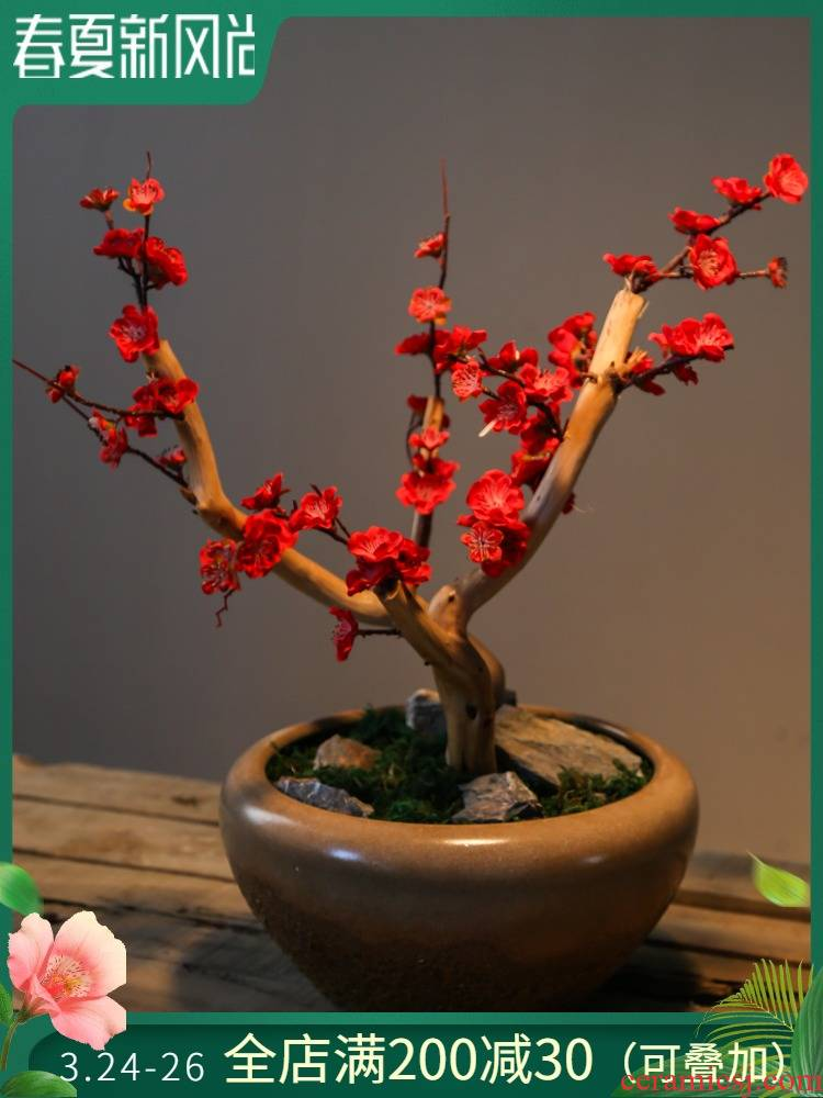 Creative move green plant household indoor potted bonsai the plants of jingdezhen ceramic flower pot sitting room adornment big furnishing articles