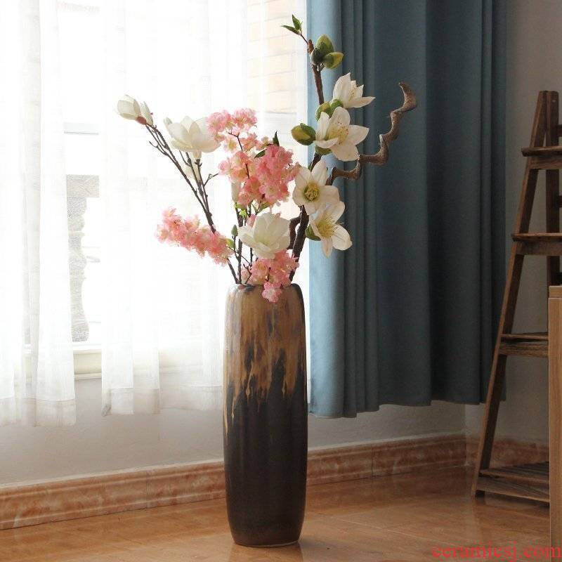 Jingdezhen ceramic vase of large sitting room place I and contracted Europe type style porch ark, the flower arranging flowers