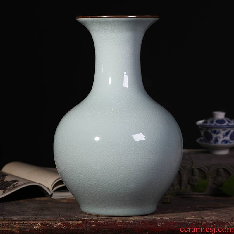 Open the slice archaize of jingdezhen ceramics vase up porcelain home furnishing articles decorative flowers sitting room, TV ark