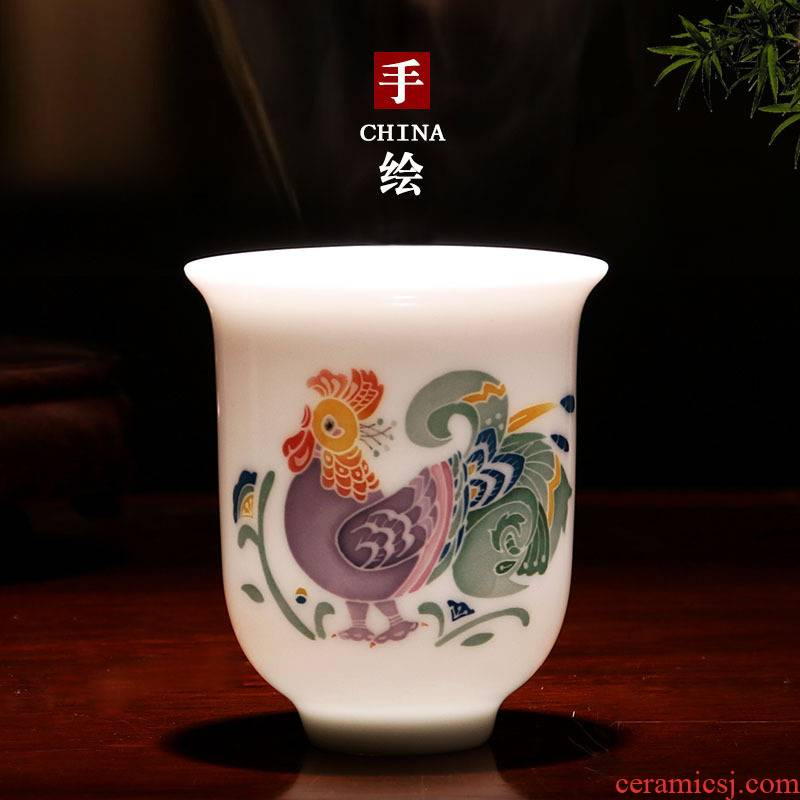 Liling porcelain porcelain good remit tea master cup single CPU hand - made ceramic kung fu tea cups propitious to collect gifts