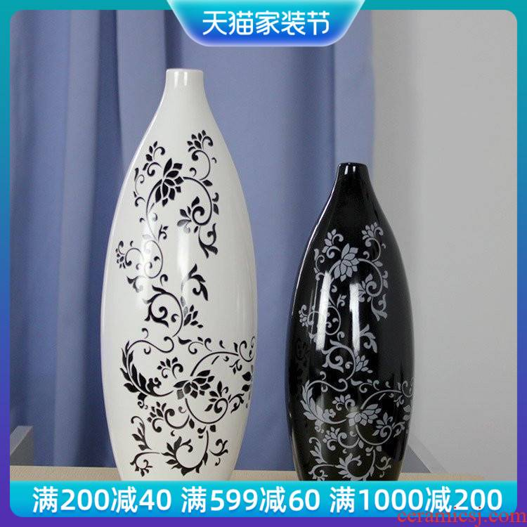 I and contracted household act the role ofing is tasted and white vase jingdezhen ceramic furnishing articles furnishing articles new soft outfit decoration