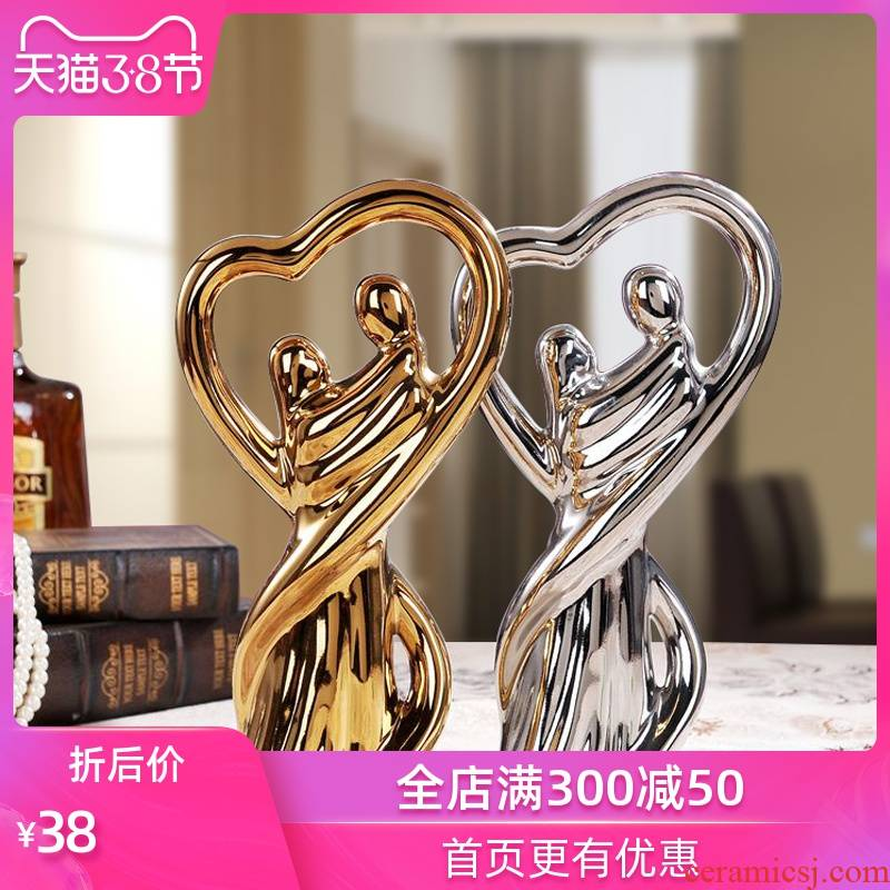Creative furnishing articles of modern ceramic arts and crafts household act the role ofing is tasted furnishing articles wedding gift parter penjing lovers sitting room