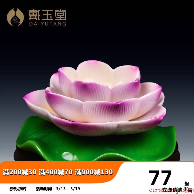 Yutang dai for ceramic Buddha before with SuYouDeng Buddha lamp holder ('m lamps home furnishing articles lotus based of picking a