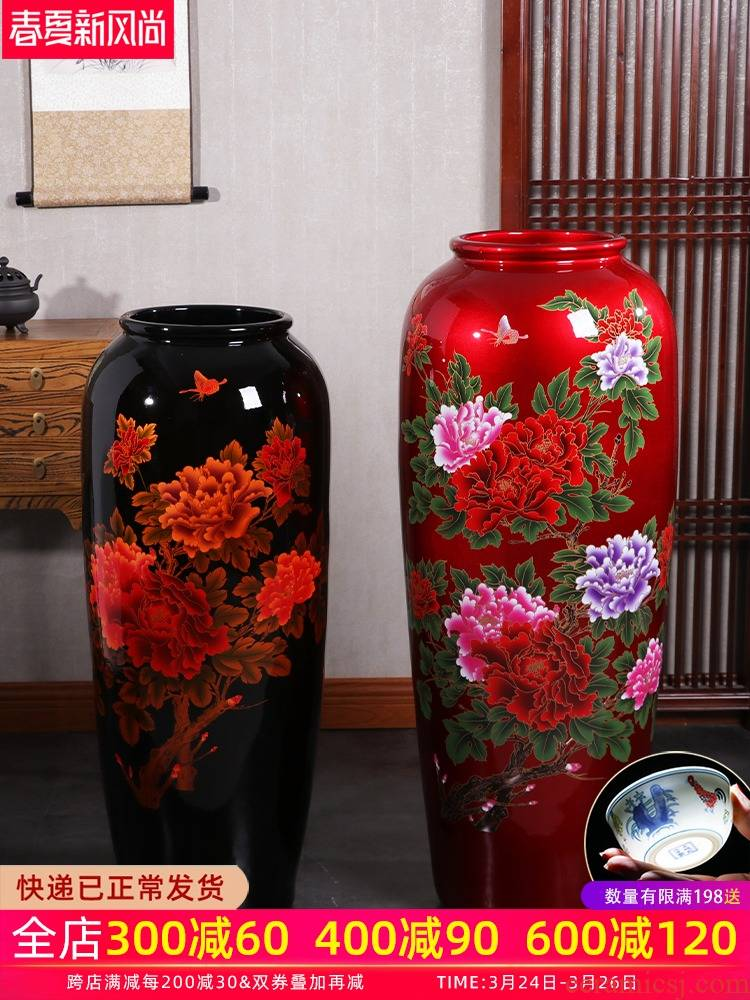 Jingdezhen ceramics craft of large vase large - sized furnishing articles sitting room the opened new Chinese style household act the role ofing is tasted