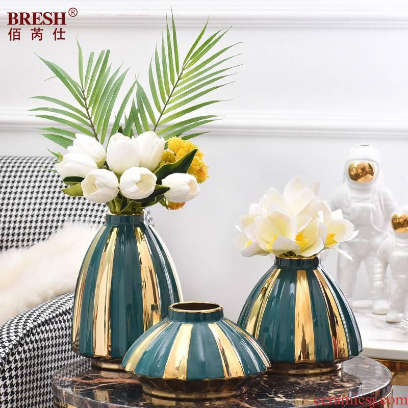 Ceramic vases, sitting room of TV ark, wine porch desktop flower arranging household furnish furnishing articles