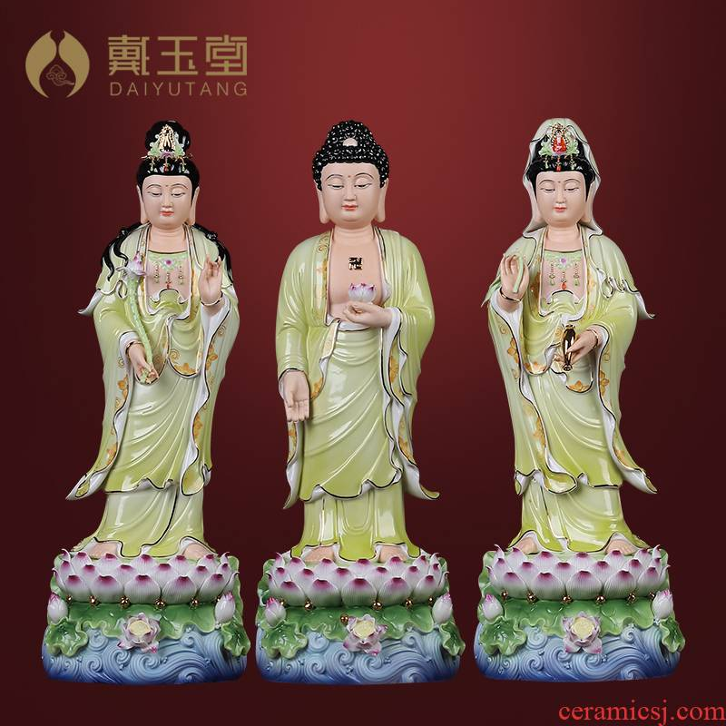 Yutang dai dehua ceramic 20 inches west three holy spirit like furnishing articles dehua white porcelain household saint consecrate figure of Buddha