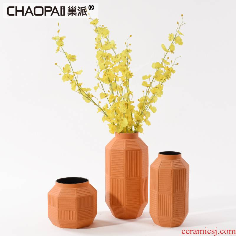 New Chinese style creative ceramic flower vases adornment porch feel rich ancient frame edge ark of tea table between example furnishing articles