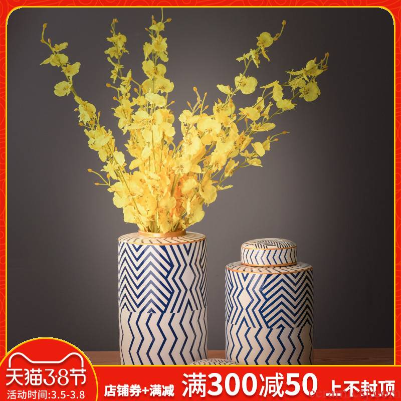 I and contracted creative home sample room storage pot decorative ceramic vases, flower art sitting room ark, furnishing articles
