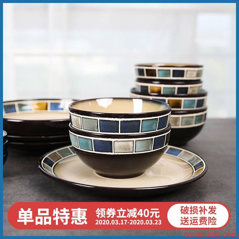 Yuquan new Nordic tableware rice bowls, with a single large soup bowl rainbow such use ceramic tableware dish dish dish soup plate