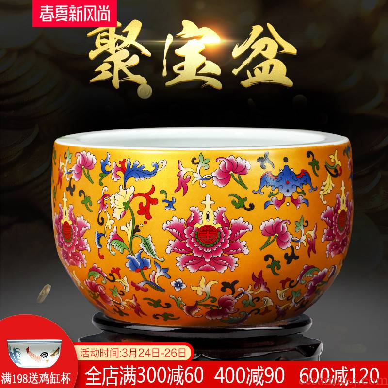 Cornucopia of TV ark, porch is decorated China feng shui plutus jingdezhen ceramics handicraft opening gifts