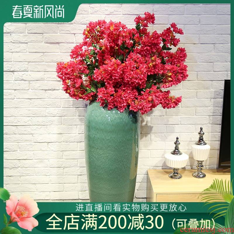 Jingdezhen new Chinese style club house sitting room of large vase ceramic flower, flower restaurant adornment is placed between the example