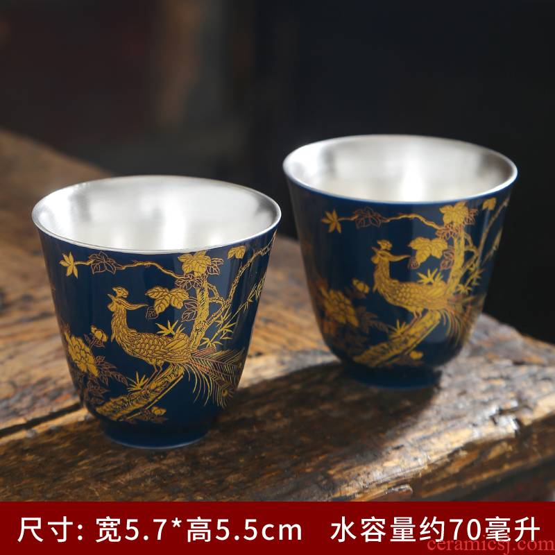 Glaze sample tea cup ceramic cups suit household kung fu tea tea set single CPU master cup, small bowl with accessories
