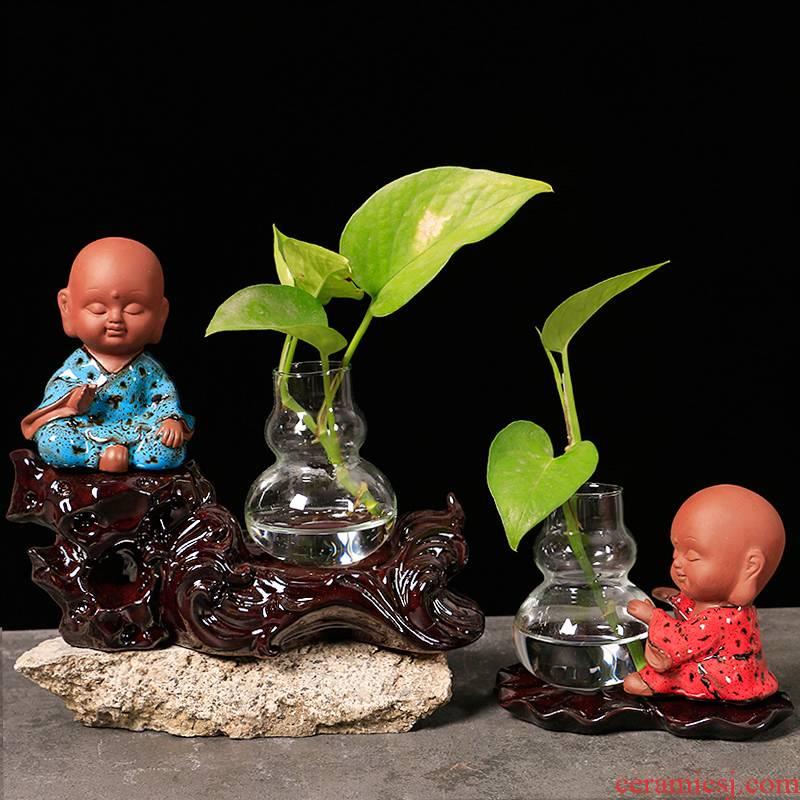 Creative other hydroponics ceramic vase plant basin glass vase vase water container small ornament adornment