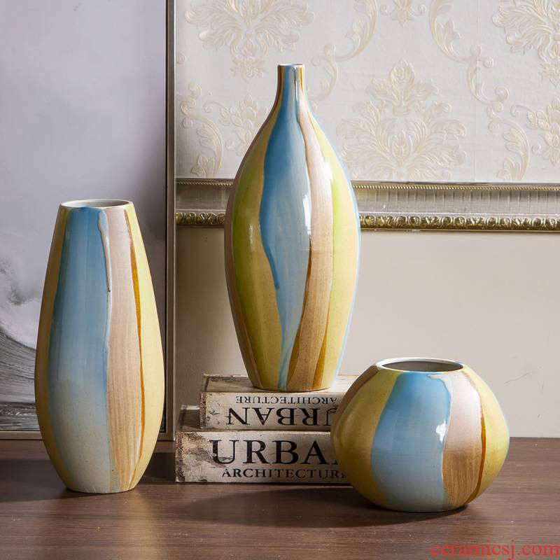 Jingdezhen ceramic vase furnishing articles Nordic dry flower flower arranging modern creative contracted sitting room table home decoration