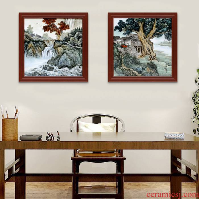 Hand made pastel xanadu jingdezhen porcelain plate painting home sitting room adornment study office Chinese hang a picture