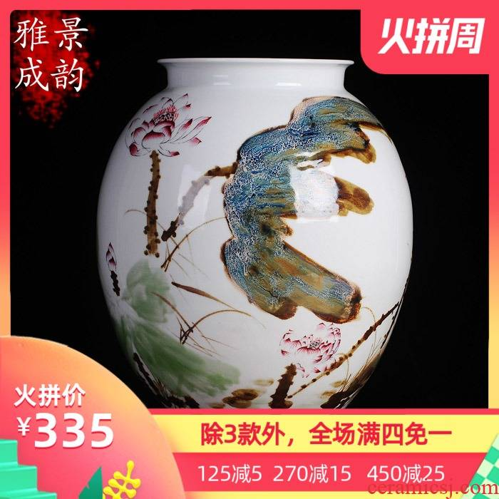 The Big vase classical jingdezhen ceramics up sitting room ground suit China decoration vase TV ark