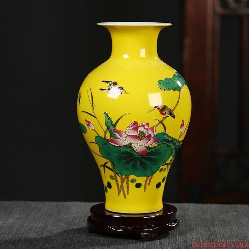 Jingdezhen ceramic floret bottle furnishing articles of Chinese style living room TV cabinet flower arranging, arts and crafts decoration home decoration