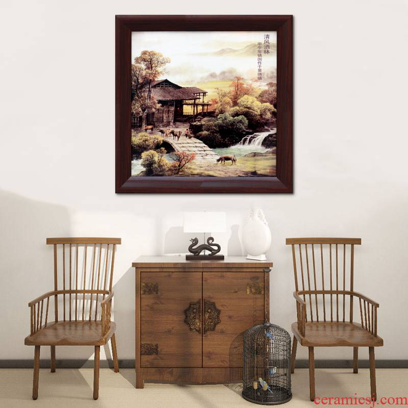 Jingdezhen ceramic art wall panel sitting room sofa background wall decoration hangs a picture housewarming gift wall murals