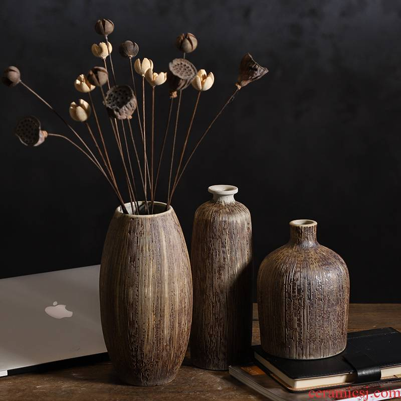 Ceramic flower implement Nordic ins floret bottle desktop dried flowers flower arrangement furnishing articles contracted sitting room of Chinese style table, TV ark