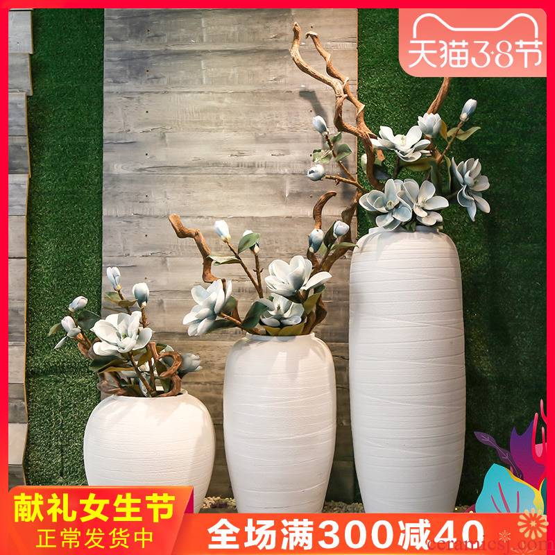 Jingdezhen restoring ancient ways of large sitting room coarse some ceramic vase hotel porcelain flower restaurant club show big furnishing articles