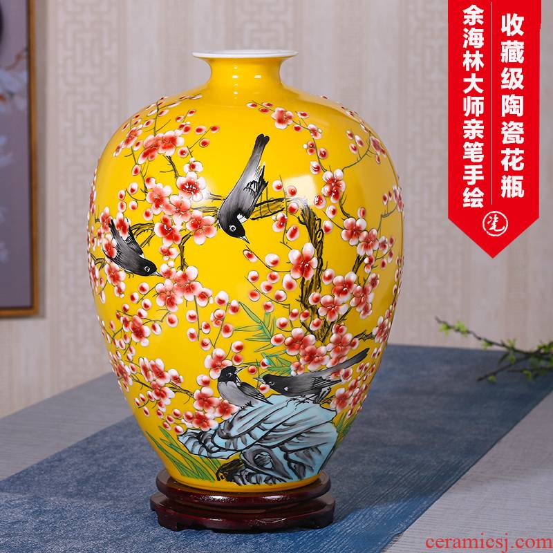 Jingdezhen ceramics hand - made vases furnishing articles sitting room flower arranging Chinese style household adornment TV ark, flower vases