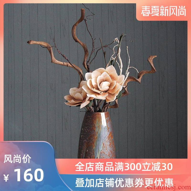 Jingdezhen ceramic vase sitting room ground vase mesa place I and contracted Europe type style dried flower arranging flowers