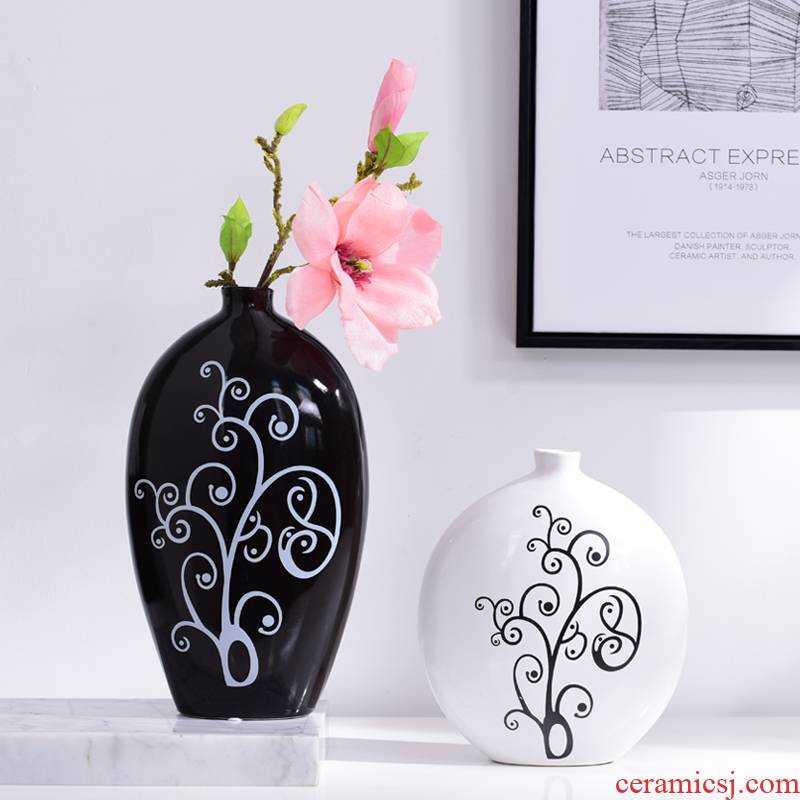 I and contracted place to live in the living room TV cabinet ceramic vase flower vase table desktop ornaments furnishing articles