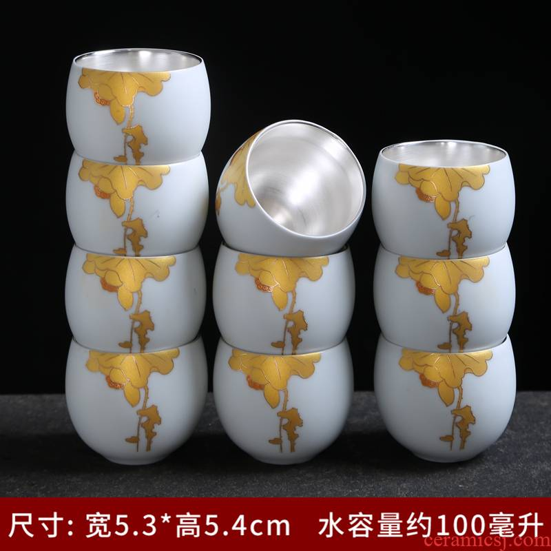 Inferior smooth kung fu tea sets a single cup of household contracted tureen set of Inferior smooth ceramic tea set Japanese tea cups