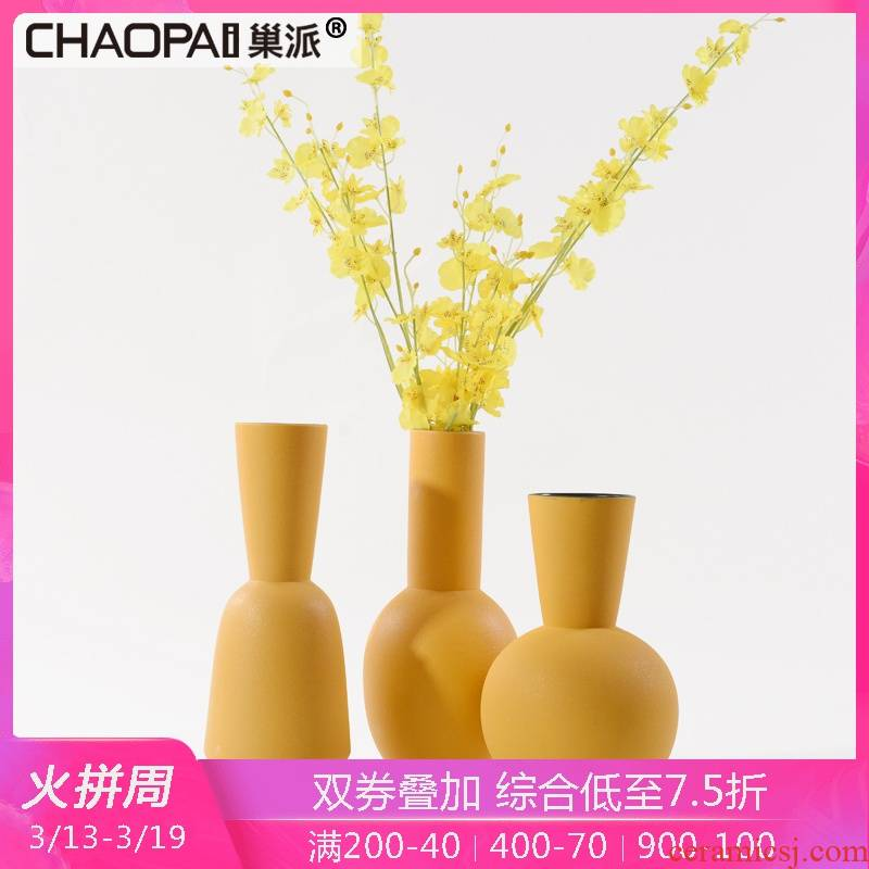 Creative modern European move ceramic vase decoration villa hotel corridor porch ark side light and decoration crafts