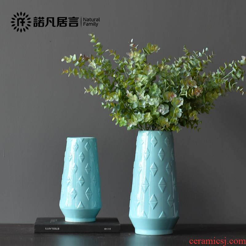Mesa of ceramic vase sitting room hotel dry flower arranging flowers, creative household patterns floret European rural decorations