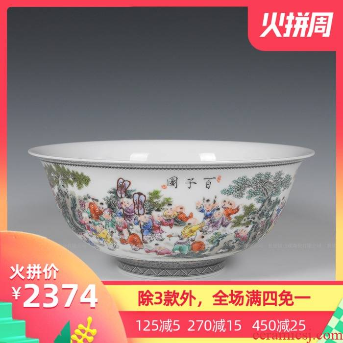 Jingdezhen ceramics with modern fashion hand - made large soup bowl bowl decorated bowl of the ancient philosophers antique decoration bowl of furnishing articles