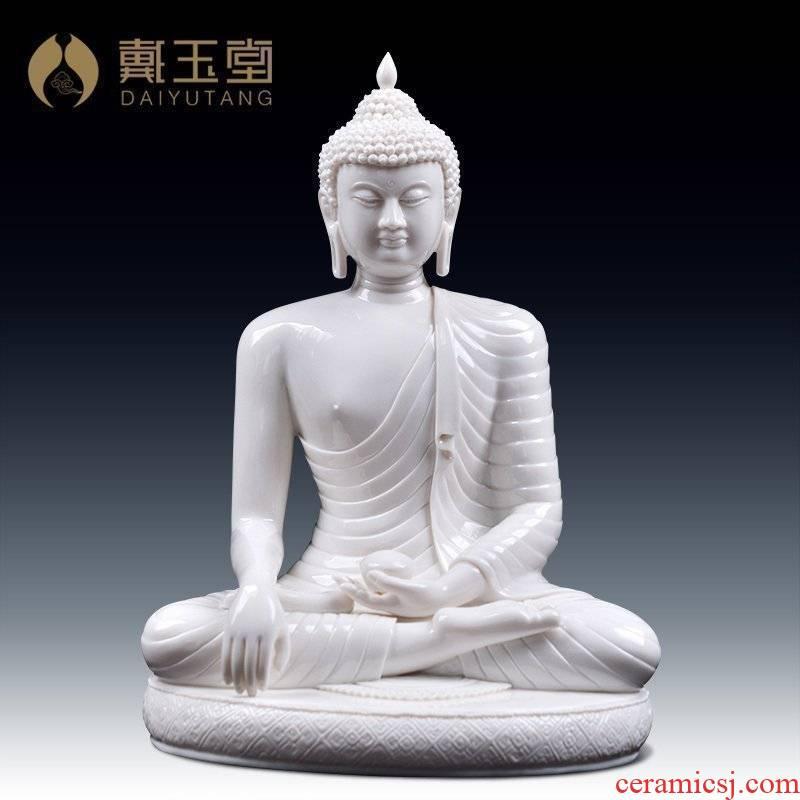 Yutang dai dehua ceramic Buddha furnishing articles from lard white porcelain bodh gaya shakyamuni Buddha D01-077 - a