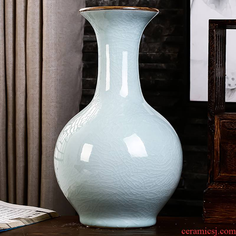 Jingdezhen ceramics vase white archaize crack of the sitting room TV ark, wine accessories furnishing articles household act the role ofing is tasted