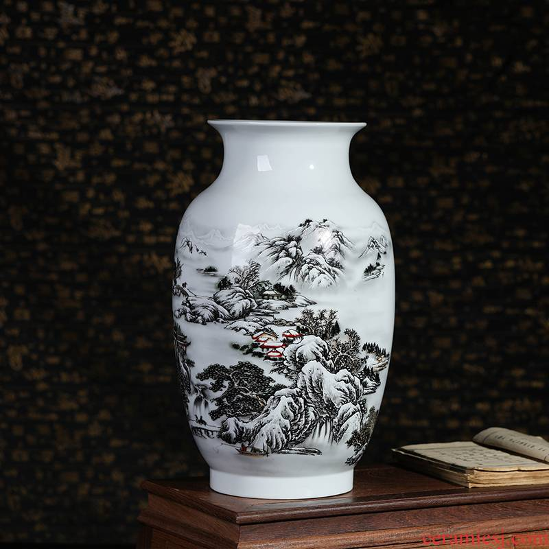 Jingdezhen ceramics vase modern handicraft furnishing articles home act the role ofing the sitting room porch decoration study snow vase