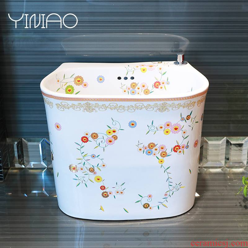 M letters birds ceramic floor mop pool bathroom balcony ground trough basin mop pool mop pool household mop pool