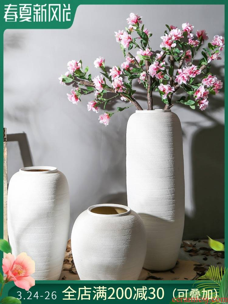 Jingdezhen restoring ancient ways of large vase hotel living room coarse some ceramic porcelain flower implement club coffee shop furnishing articles