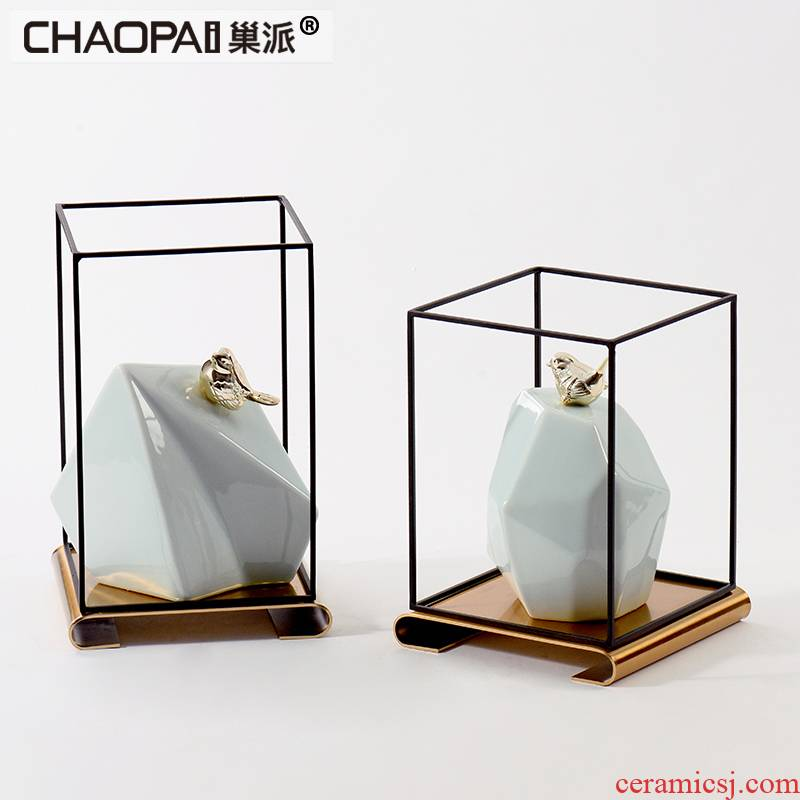 New Chinese style taihu ceramic copper bird furnishing articles soft adornment model study of the sitting room porch is decorated room decoration