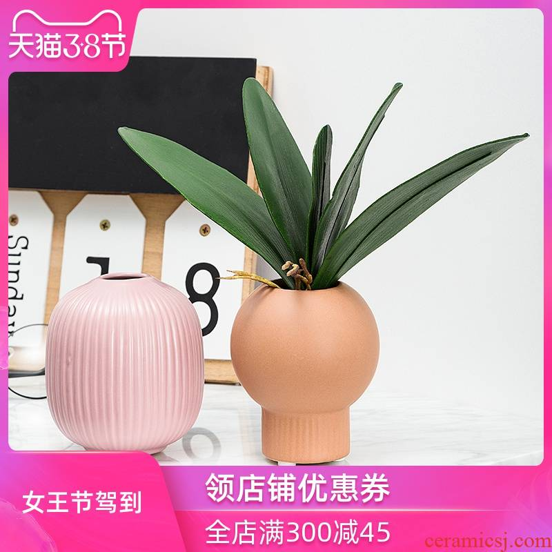 Floret bottle furnishing articles ceramic desktop sitting room flower arranging dried flower art Japanese small mini small pure and fresh and hydroponic decoration