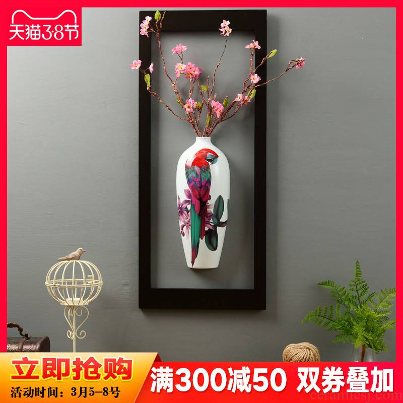 New Chinese style household decorations hanging creative sitting room, dining - room metope room corridor wall act the role of ceramic vases, furnishing articles