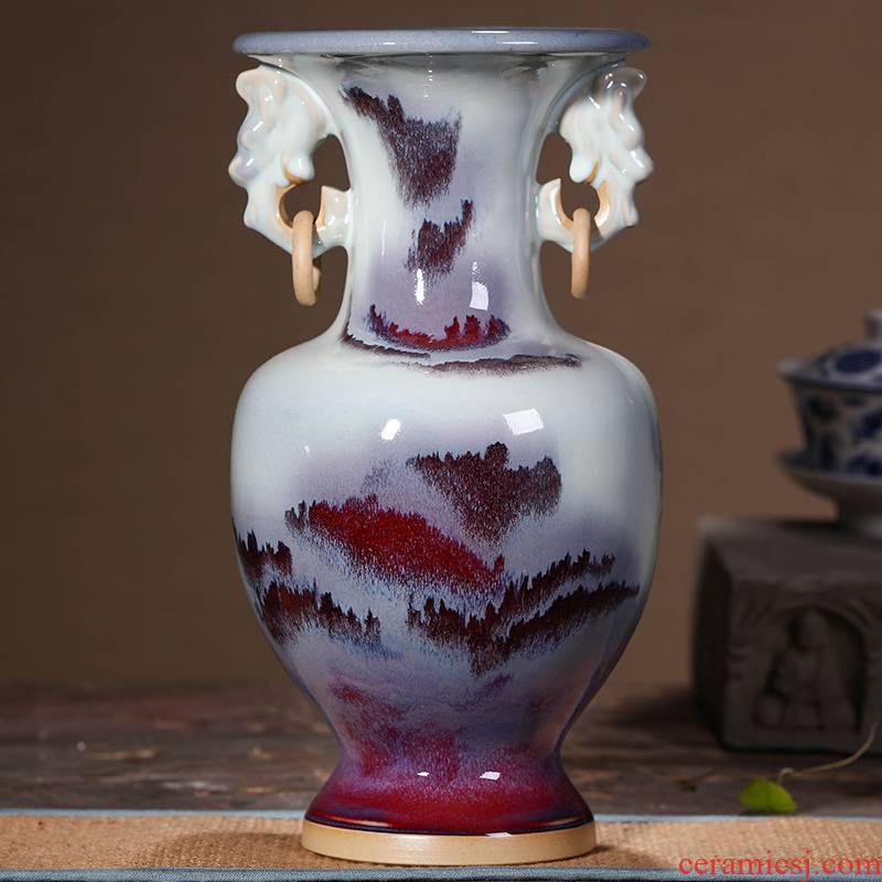 Jingdezhen ceramic vase sitting room place flower arranging archaize up porcelain decoration household act the role ofing is tasted rich ancient frame wine