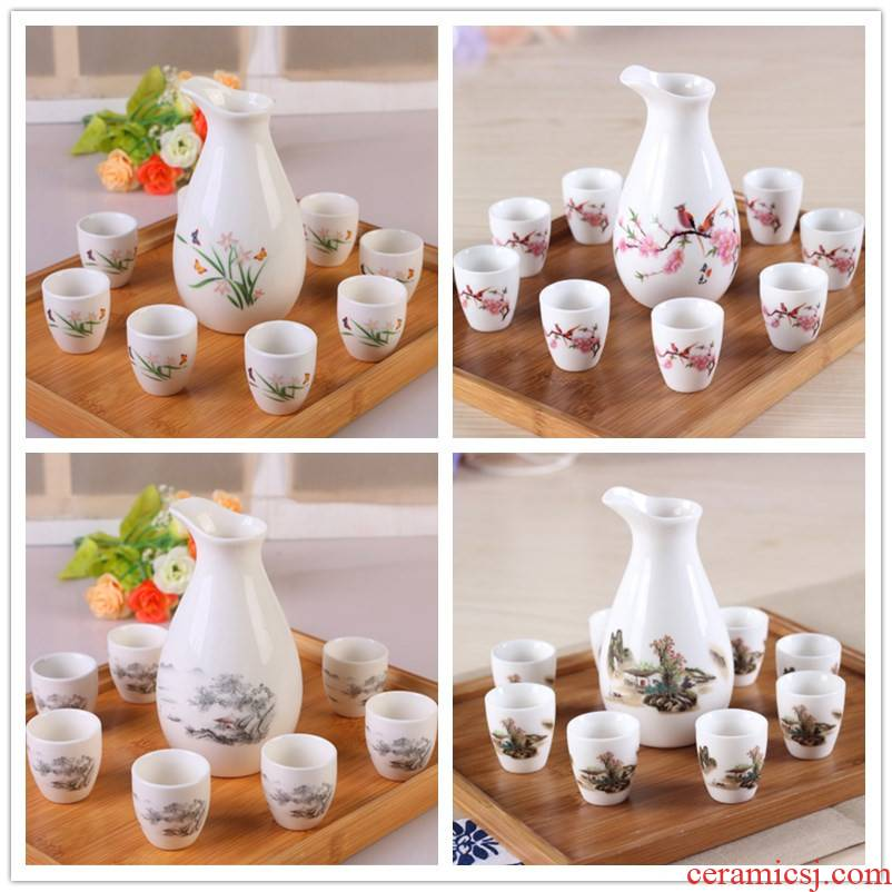 Ceramic wine suits for wine liquor cup of liquor cup small wine pot rice wine points a small handleless wine cup of wine